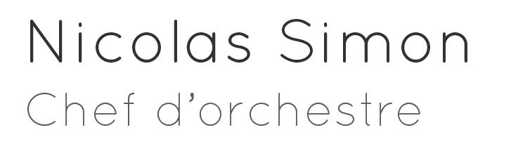 Nicolas Simon - Chef d'orchestre